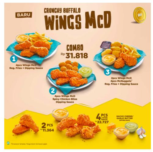 Crunchy Buffalo Wings Mcd Mcd Buffalo Wings Restoran