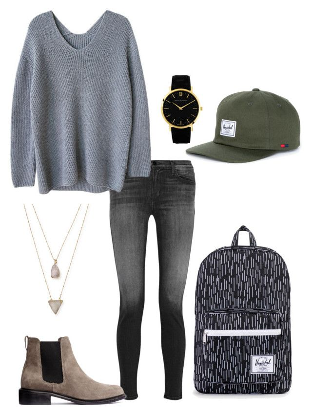 """Herschel hat"" by native-skulls on Polyvore featuring Larsson & Jennings, J Brand and Panacea"