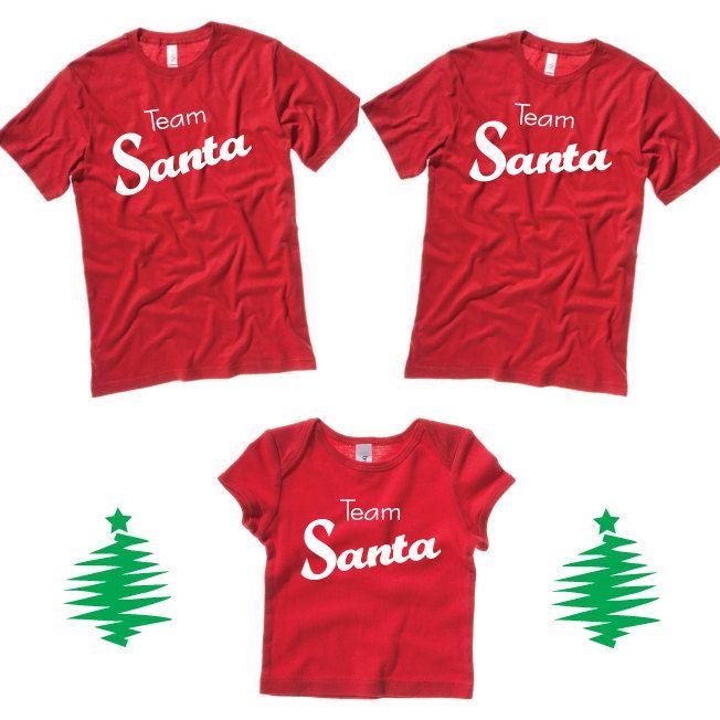 41fd14e3fe Team Santa T-Shirt Family Set of 3 Christmas Shirts. Christmas Baby T-Shirt    Unisex Adult Shirts. Great Christmas Photo Prop. by SoPinkUK on Etsy