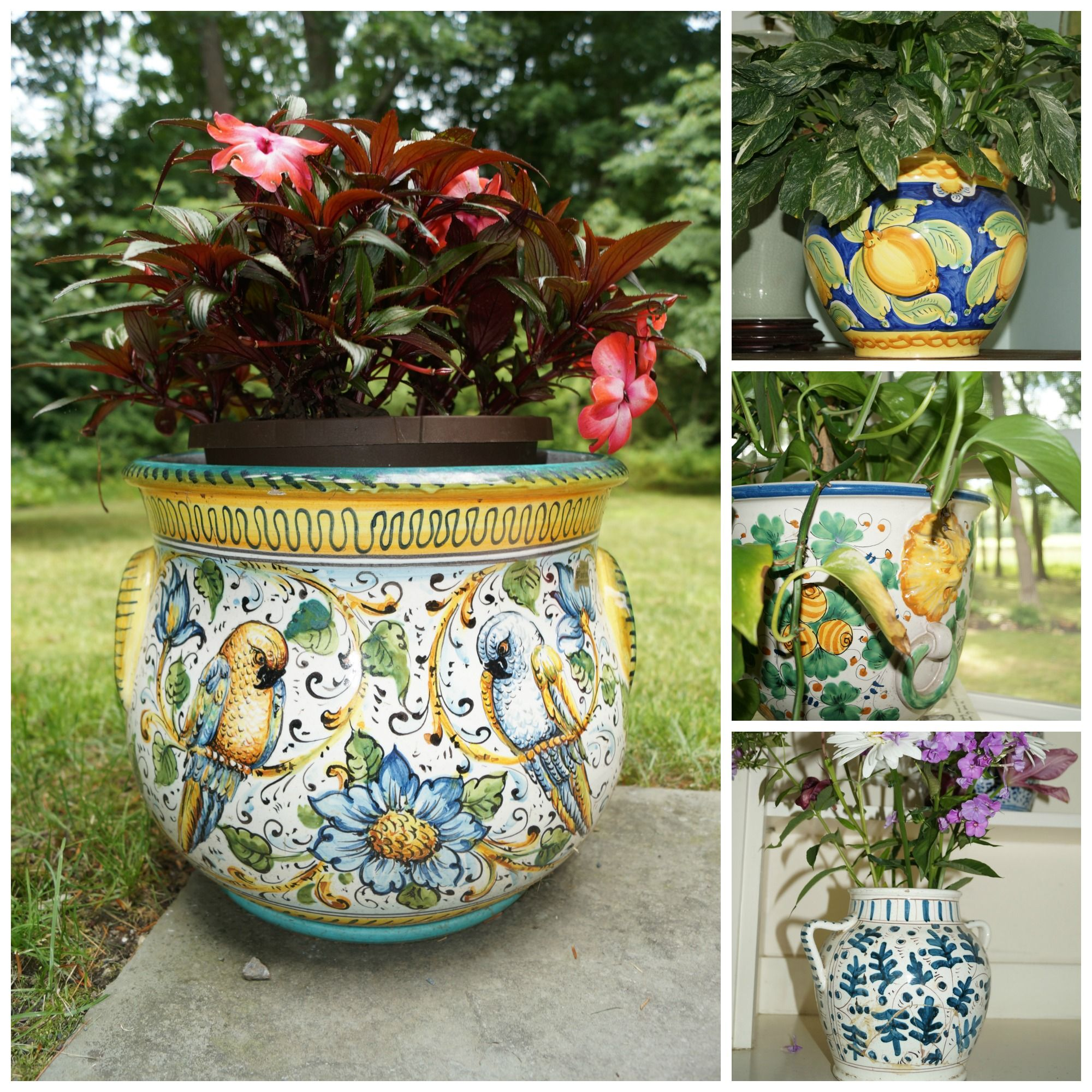 Ceramic Pottery For Plants Italian Planter Collage Planters Planters Planters