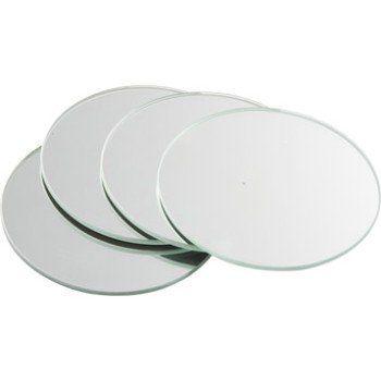 Lot De 4 Miroirs Non Lumineux Adhésifs Ronds L10 X L10 Cm