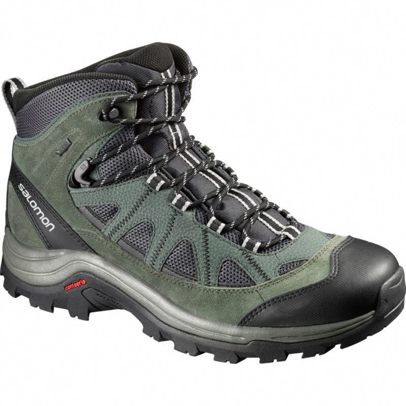 Salomon Mens Authentic LTR GORE-TEX Walking Boots Black Grey Sports Outdoors