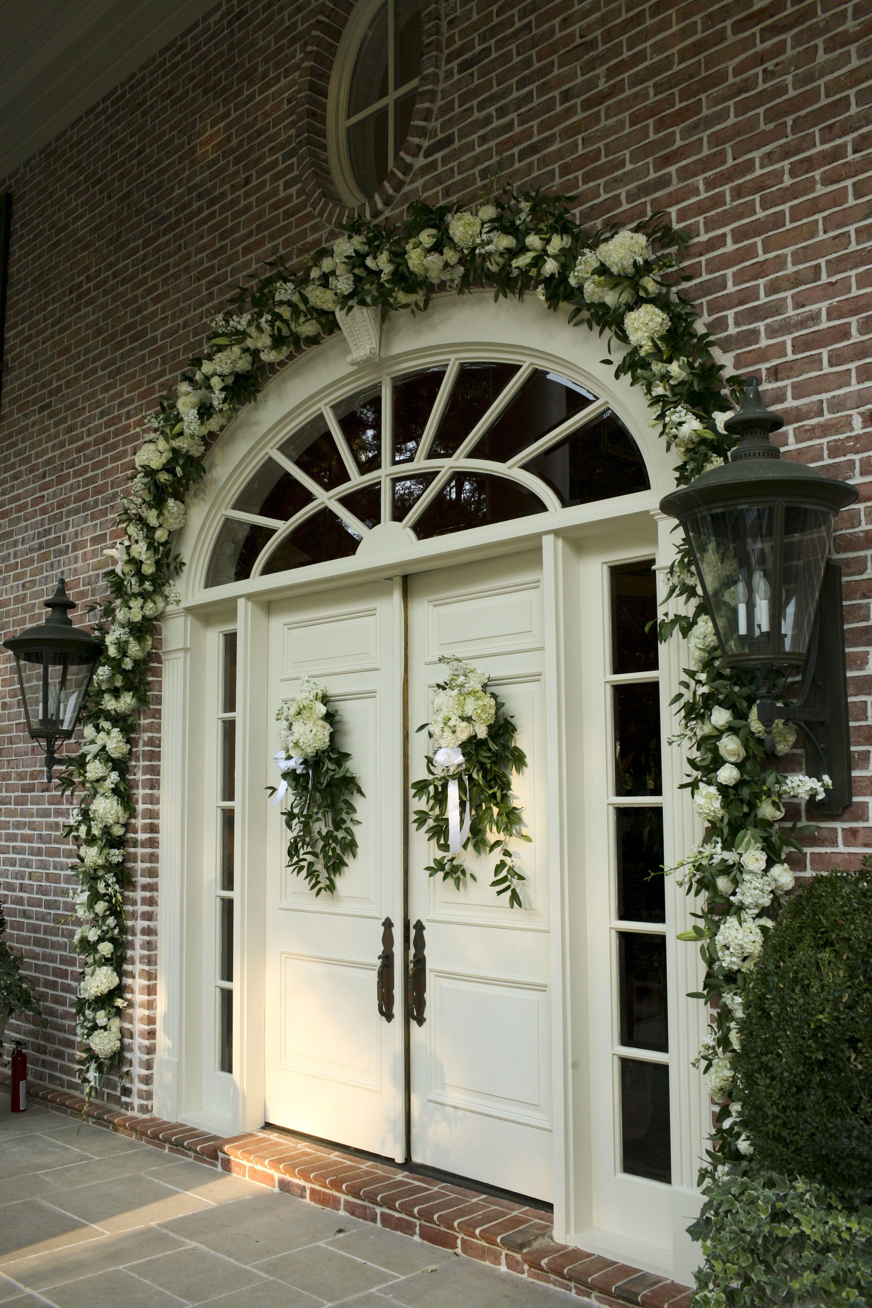 Front Door Of A Wedding Ceremony At A Home Front Door Wreaths Diy Front Door Decor Wreaths For Front Door