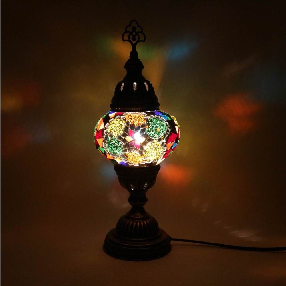 Multicolour turkish moroccan style mosaic table lamp lampshade multicolour turkish moroccan style mosaic table lamp lampshade hand made geotapseo Gallery