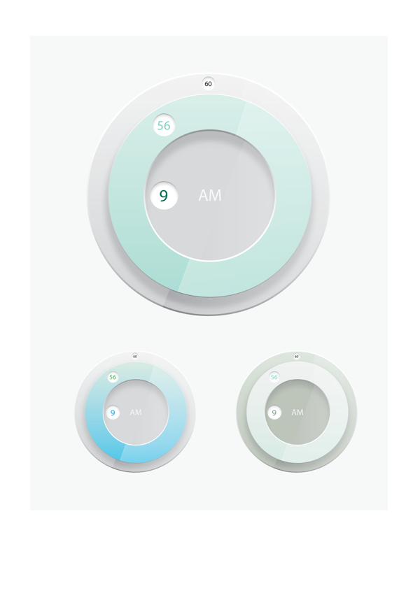 UI Clock Design by Clay Thompson, via Behance