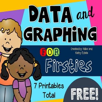 FREEBIE! Make sure to grab a copy of this free Data and Graphing for Firsties printables! Topics include Tally Charts, Bar Graphs, and Picture Graphs.