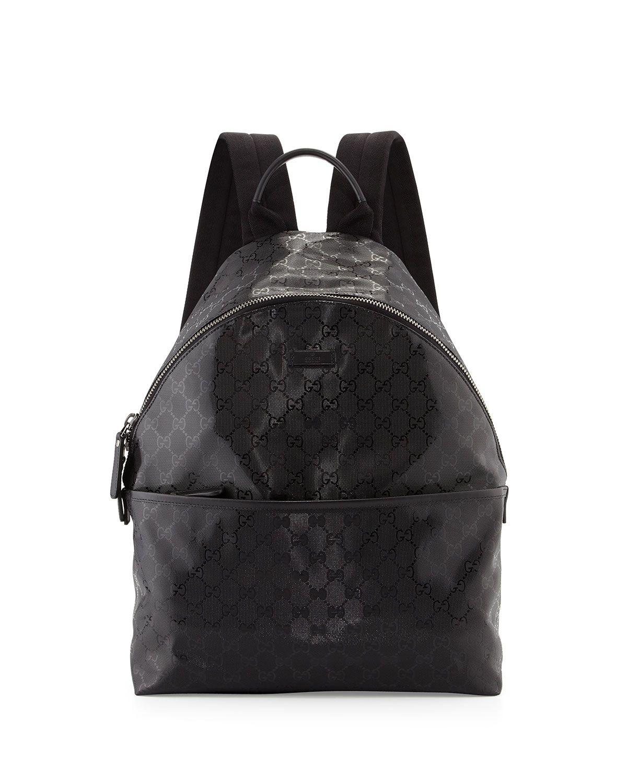 4259b65863a2 Gucci Men s Gg Imprime Backpack in Black for Men