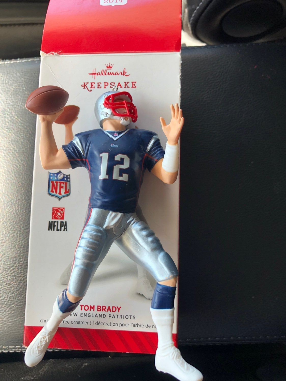 Tom Brady Hallmark Keepsake Christmas ornament. (With