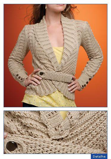 6b1dde44d4 blazer de croche crochet Blusas De Trico Feminina