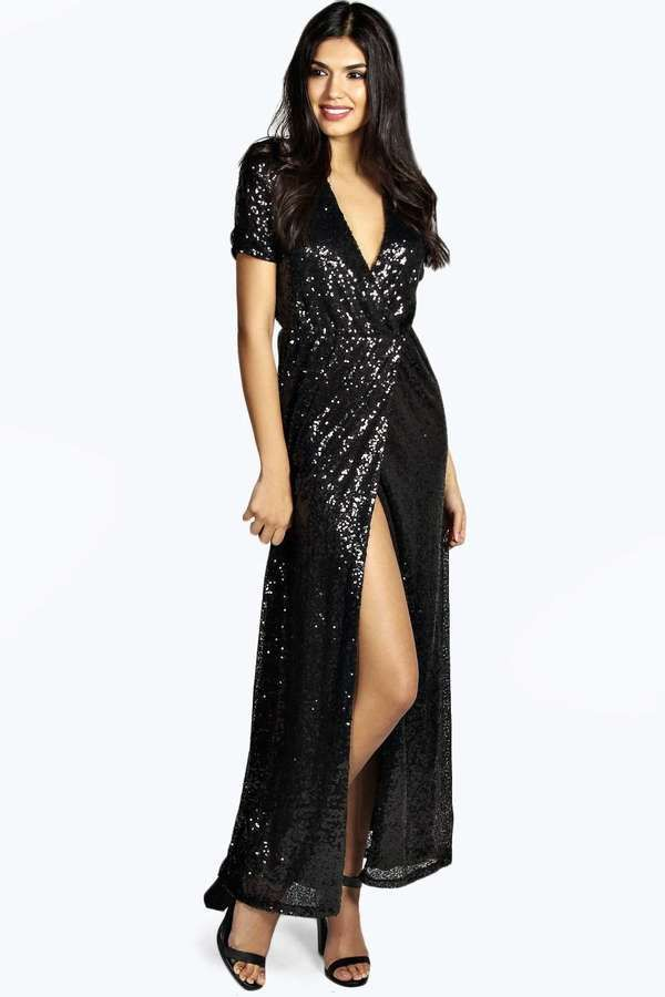 Buy sequin maxi dress