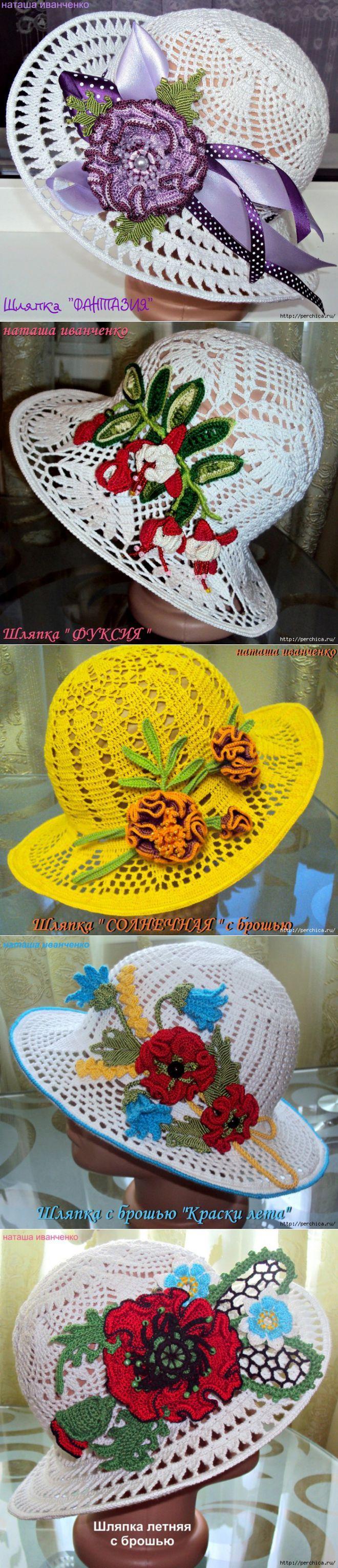 панамы крючком | Sombreros de señora, Señor y Broches