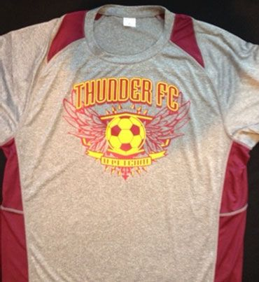 Moisture wicking soccer shirt with custom transfer QSO -170, add your team name and make it your colors