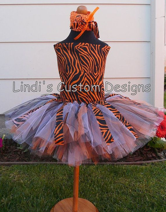 6c221e7bd6 Tiger Orange Black and White Animal Print Tutu by sweethearttutus, $70.00