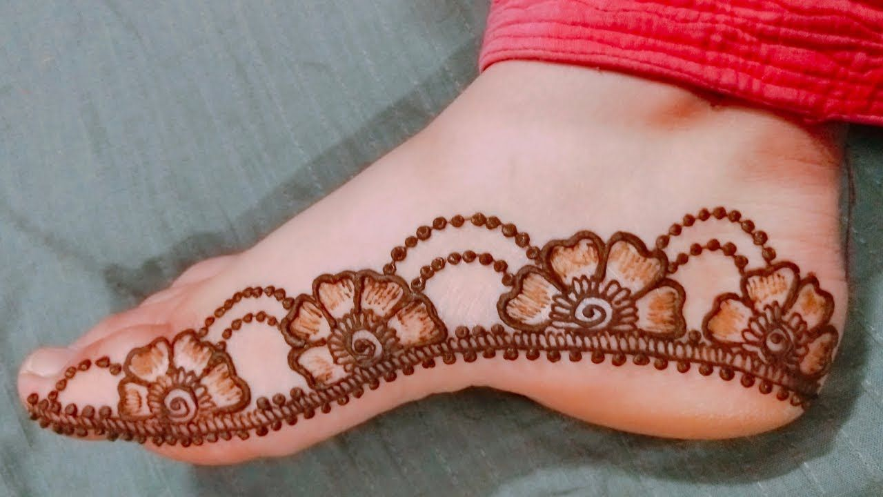 Beautiful Feet Mehndi Design 2019
