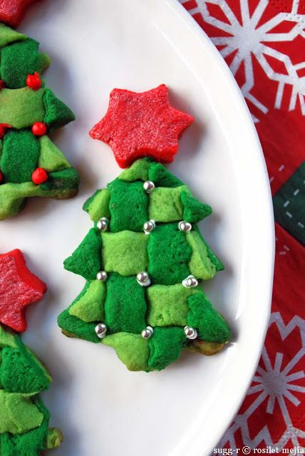 Checker X\u0027mas Tree Cookies X\u0027mas Sweet Ideas Pinterest