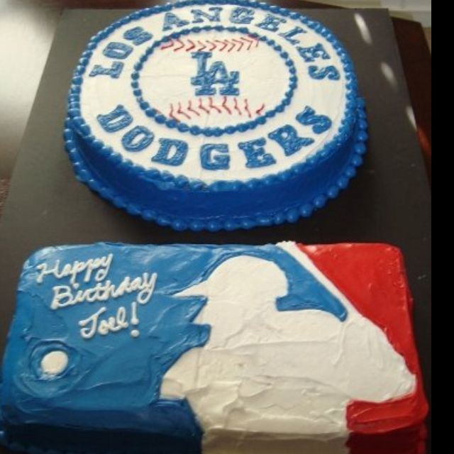 My Husbands Dodger Birthday Cake!! :