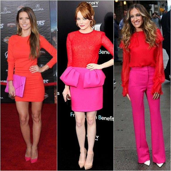 Pink And Red Combinations
