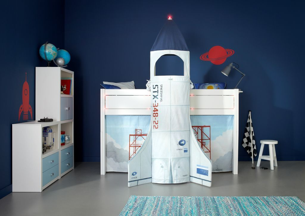 Loft Bed / Contemporary / Lacquered Wood / Childu0027s Unisex DISCOVERY LIFETIME