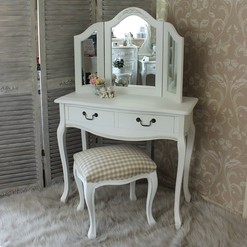 Dressing table triple mirror and stool bedroom furniture for Cheap dressing table with mirror
