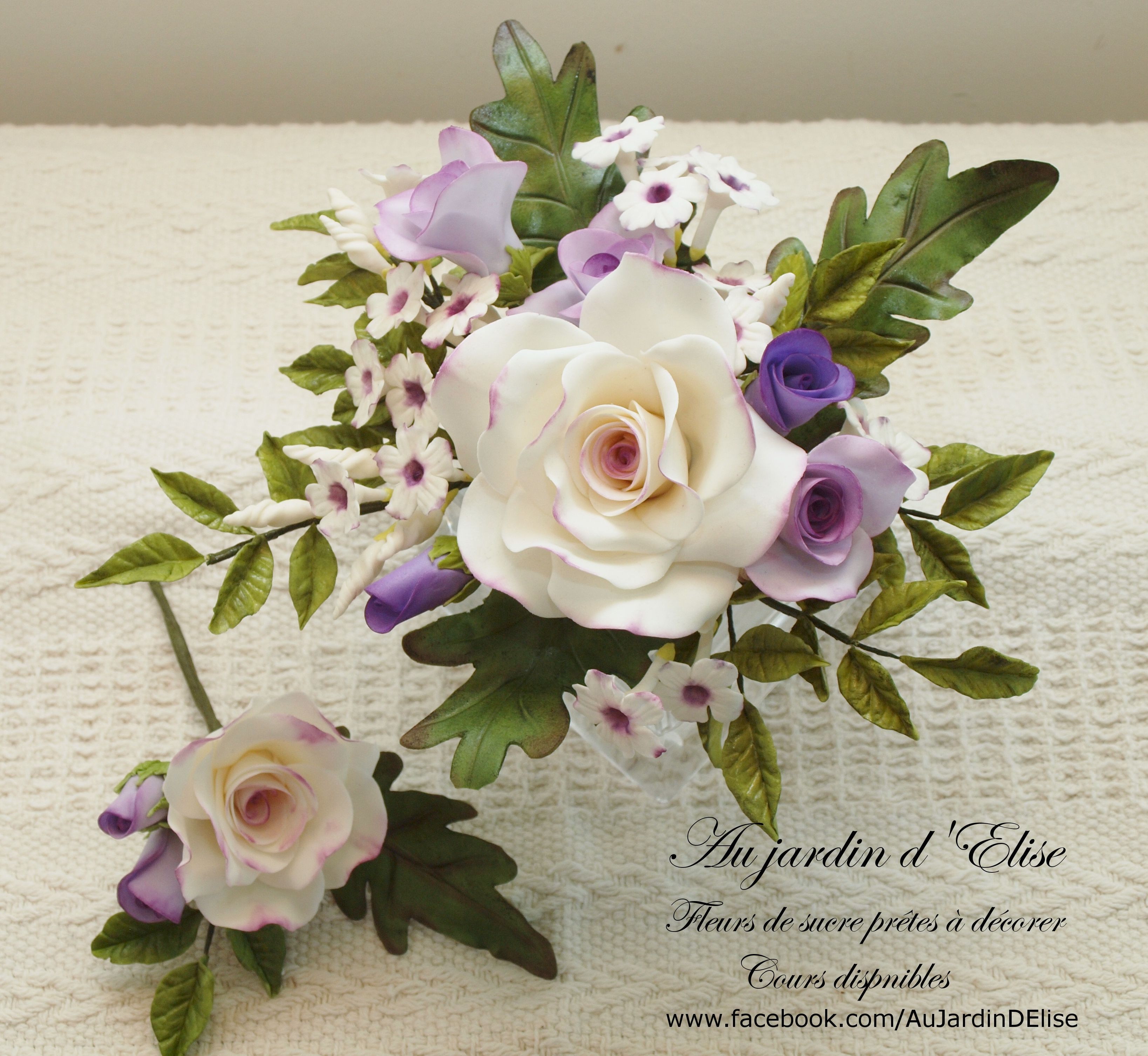 Wedding bouquet - Inspired by Alan Dunn. Rose, Philodendron and ...