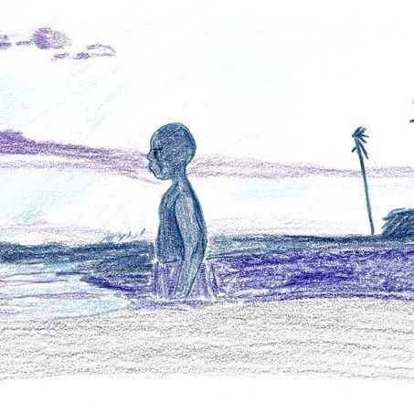 MOONLIGHT . . . #moonlight #movie #film #blue #black #people #boy #palm #beach #illustration #drawing #sketch . #문라이트 #영화 #흑인 #일러스트 #드로잉 #스케치 #무비