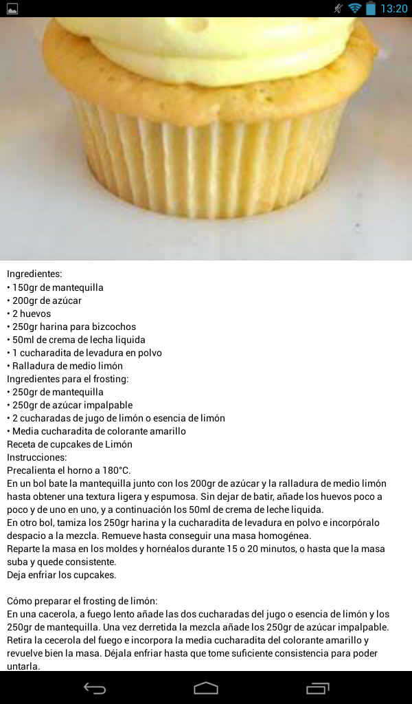 Muffin de limon