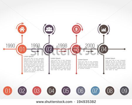 Horizontal timeline infographics design template, vector eps10