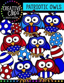 Patriotic owl. Owls creative clips digital
