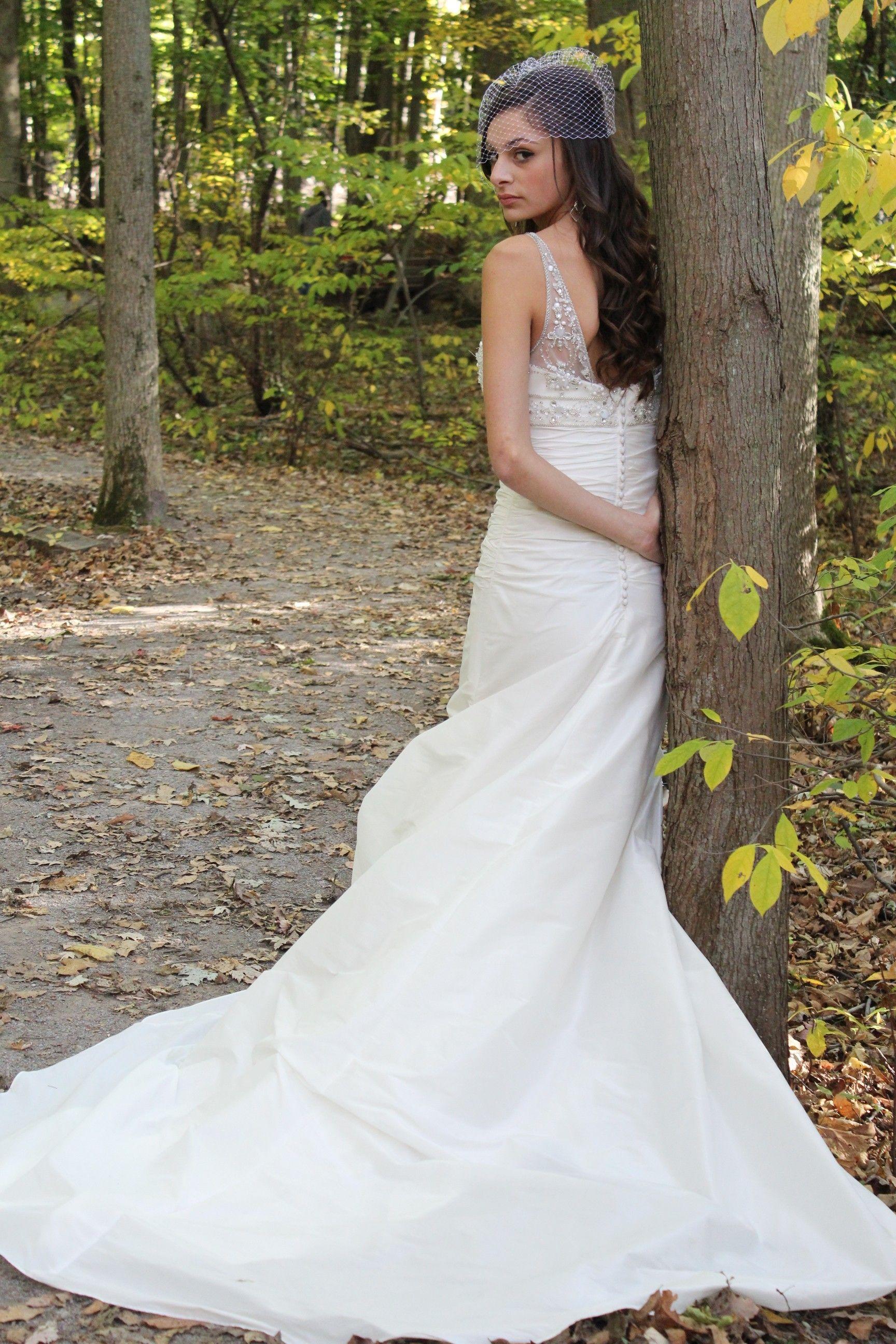 Mermaid style shantung wedding gown for sale on ebay