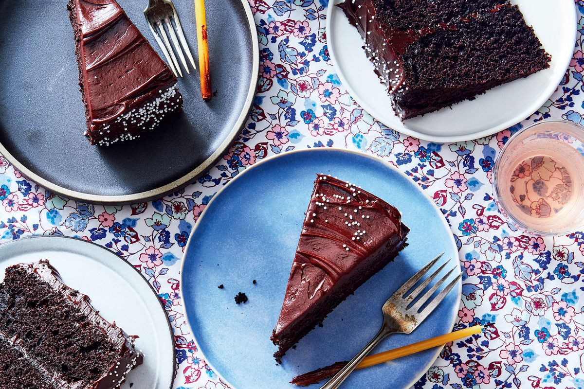 Dark Chocolate Malt Celebration Cake Recipe On Food52 Recipe Baking Project Chocolate Malt Cake Recipes