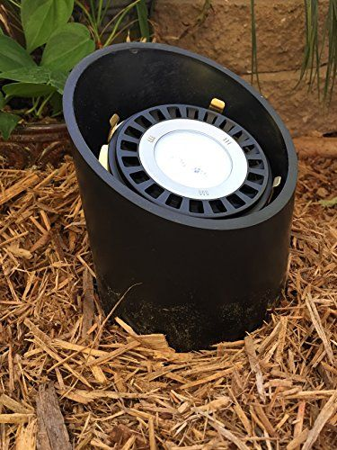 Led Outdoor Low Voltage Landscape Lighting Pvc Well Up Light Quasar With Br Gimble Ring