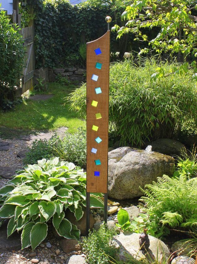 Skulpturen gartenskulptur aus holz und glas ein - Gartenskulpturen selbstgemacht ...