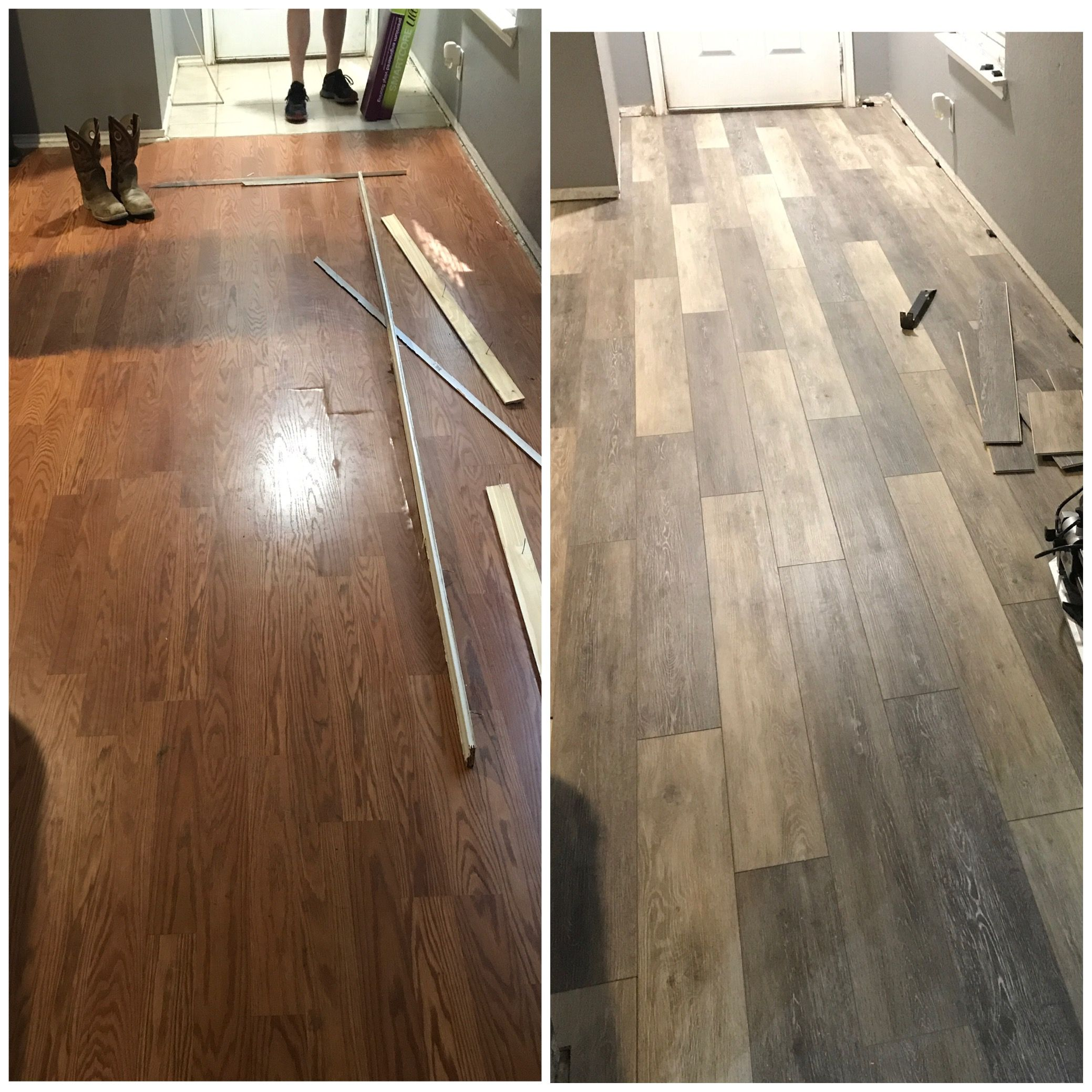 Smartcore Ultra Vinyl Flooring Before And After Color Woodford Oak Vinyl Flooring Hardwood Floor Colors Flooring