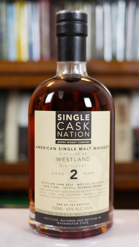 Single Cask Nation Westland 2 Year Old Peated Cask Oloroso