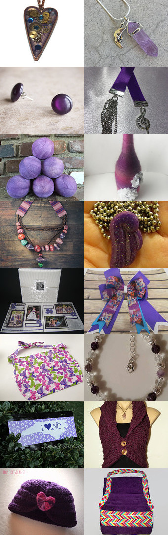 Let's Go Crazy! A tribute of purple to Prince by Crystal Howell on Etsy--Pinned+with+TreasuryPin.com