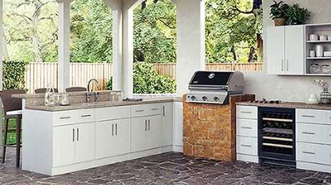 Create Customize Your Kitchen Cabinets Miami Pre Configured Cabinets In Radiant White The Outdoor Kitchen Cabinets Kitchen Cabinets Kitchen Island Cabinets