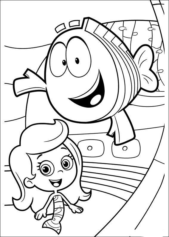 Bubble Guppies Ausmalbilder 16 | Ausmalbilder | Pinterest | Bubble ...