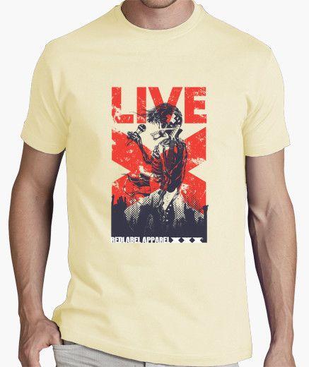 Camiseta Esqueleto del cantante en directo