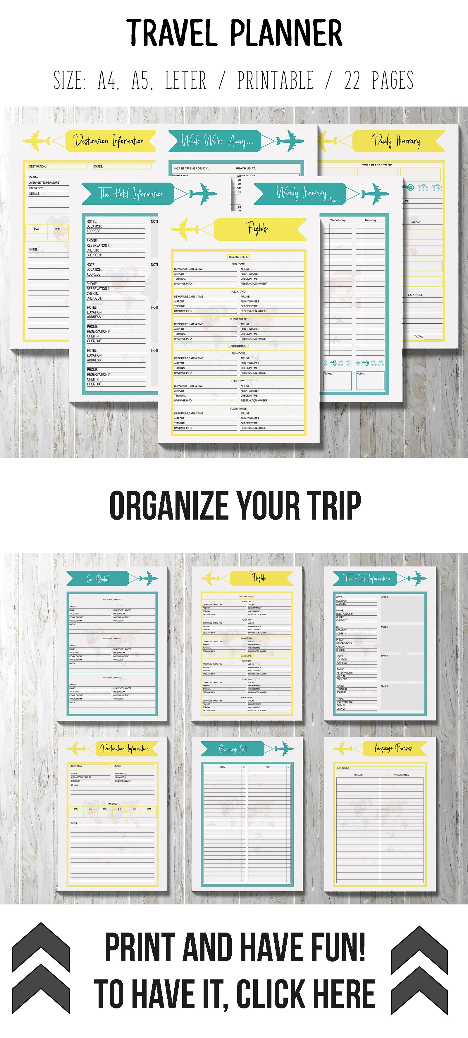 photograph regarding Vacation Planner Printable identified as holiday vacation creating printable -