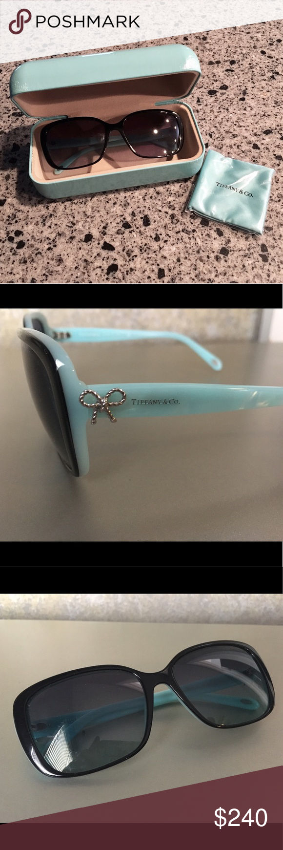 135a0ed14db Tiffany   Co. Twist Square Bow Sunglasses - TF4092 Show off your girly side  with these authentic designer sunglasses from Tiffany   Co.