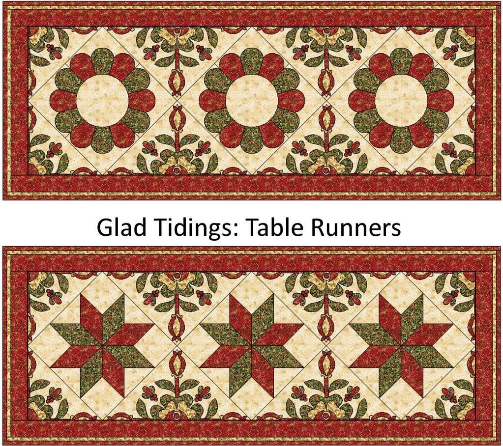 Christmas Tree Table Runner Quilt Pattern: Free Quilt Pattern: Glad Tidings Table Runner