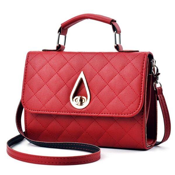Photo of Retro women handbag ladies crossbody messenger bags pu leather flap shoulder bag