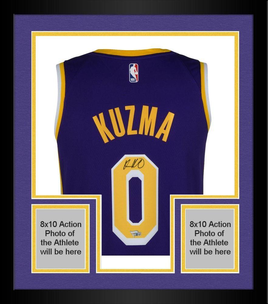 3e613f96c36 Framed Kyle Kuzma Los Angeles Lakers Autographed Purple Nike Swingman Jersey  #sportsmemorabilia #autograph #basketballjersey