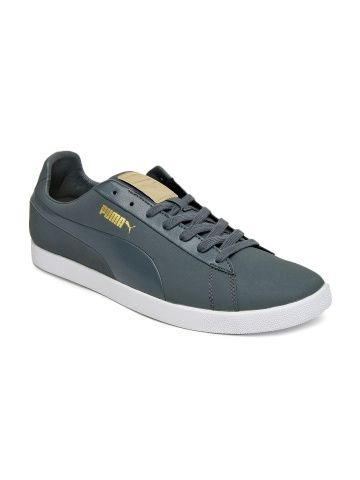 puma men grey modern court casual shoes with images