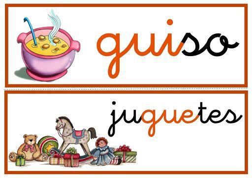 Ga Go Gu Gue Gui Güe Güi Palabras Con Gue Gui Lectoescritura Silabas