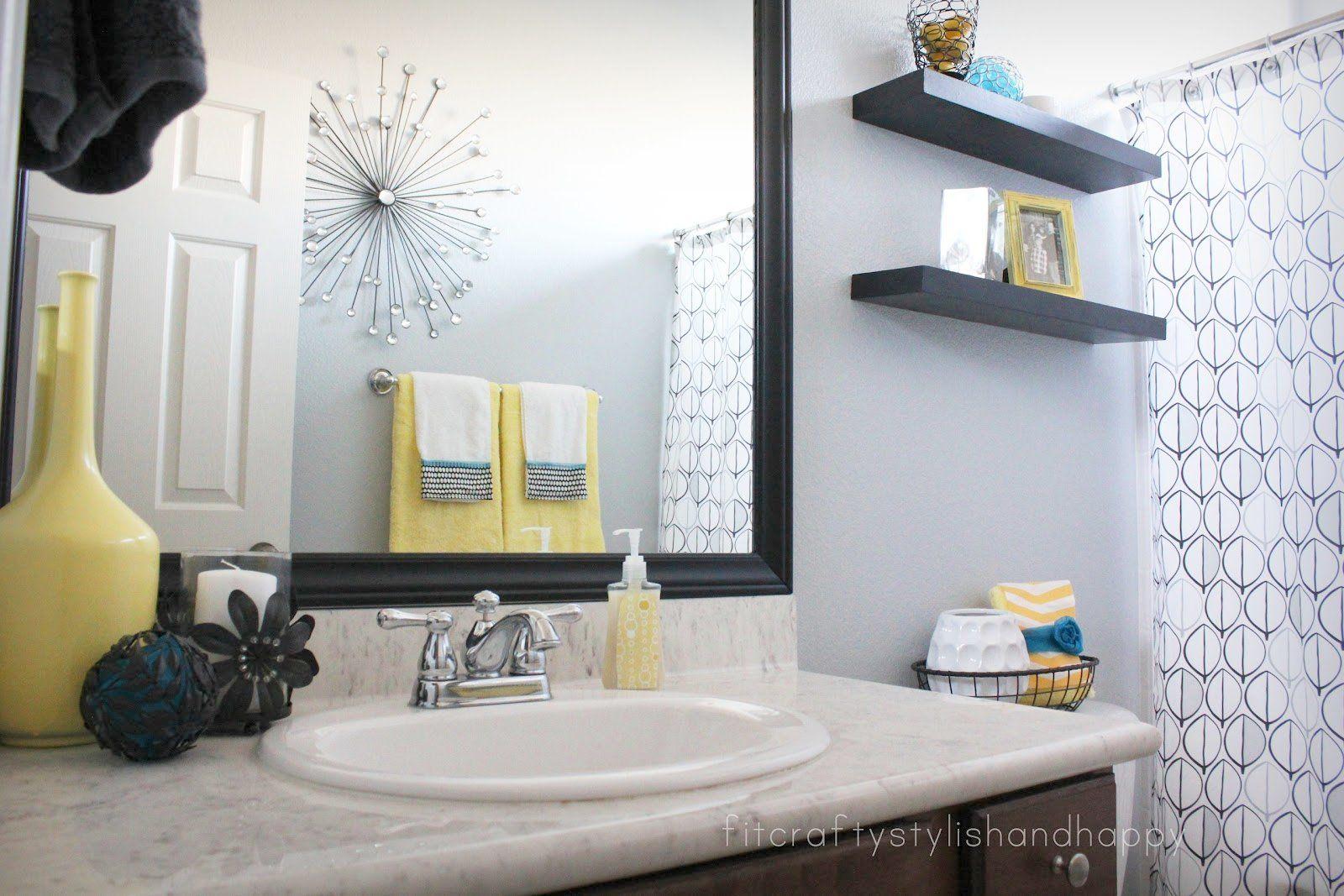 BATHROOM DECOR YELLOW - Google Search  Yellow bathroom decor