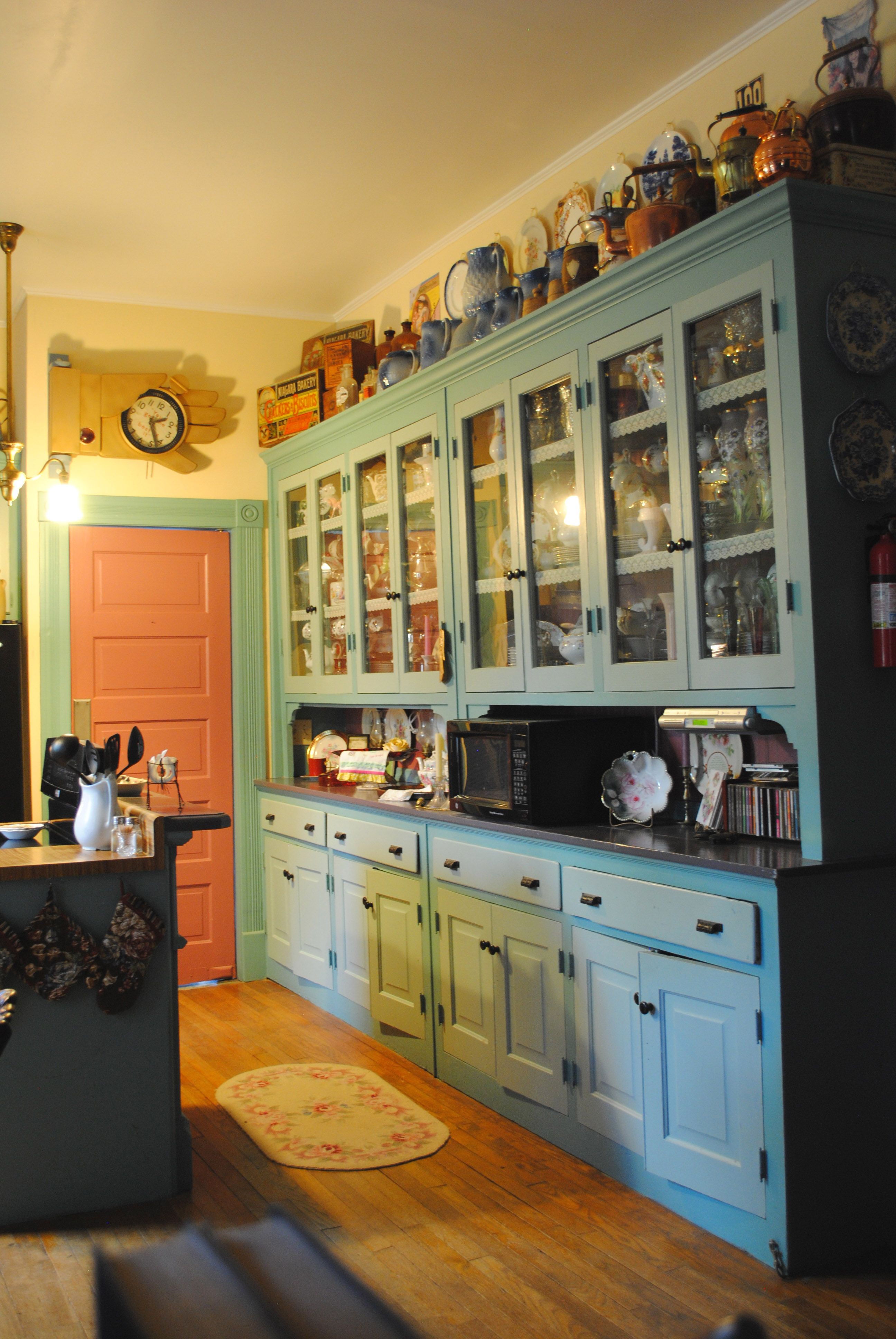 We Found These Wonderful Cabinets That Had Come Out Of A Demolished House In Montgomery Al They Fit Old Home Remodel Victorian Kitchen Gorgeous White Kitchen