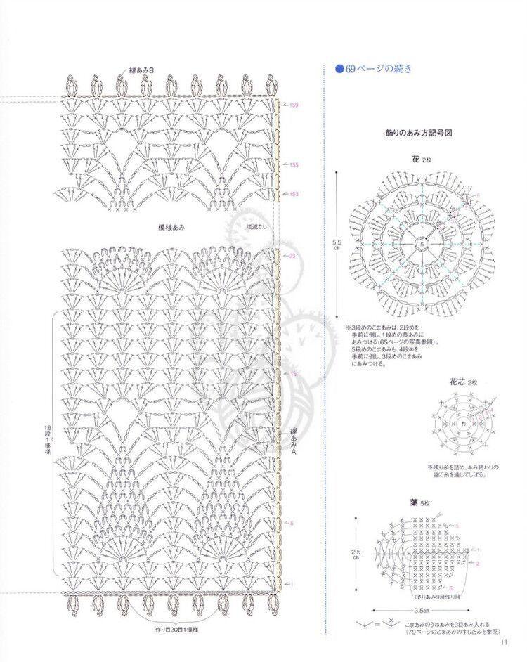 crochet home: Scarf - red pineapple   Crochet   Pinterest   Puntadas
