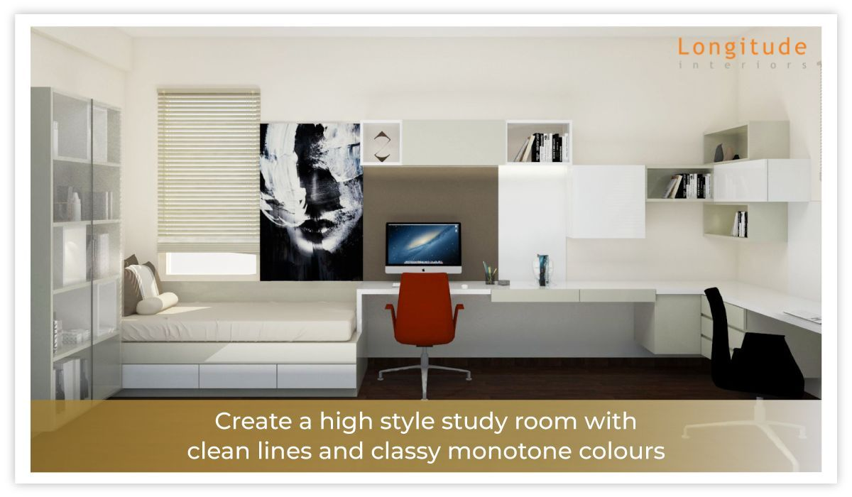 Add A Splash Of High Style To Your Study Room Exquisite Designs By Longitude Interiors