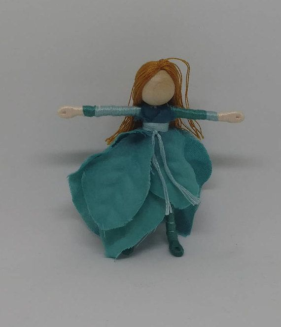 Teal poinsettia Flower Fairy doll. All of my Waldorf-inspired flower ...